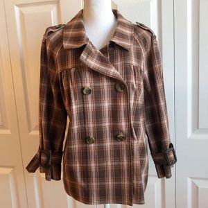 Liz Claiborne • Brown Plaid Jacket